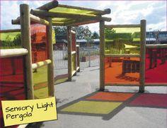 Sensory light pergola