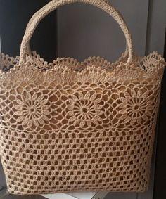 "Crochet_Tutorial - ""Outstanding Crochet: Limited time free pattern/tutorial for Crochet Summer Tote Bag. Crochet Tote, Crochet Handbags, Crochet Purses, Crochet Stitches, Crochet Baby, Free Crochet, Crochet Patterns, Knitted Gloves, Knitted Bags"