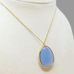Ασημένιο κολιέ 925° με κίτρινο επιχρύσωμα και μπλε πέτρα. Pendant Necklace, Jewelry, Fashion, Moda, Jewlery, Jewerly, Fashion Styles, Schmuck, Jewels