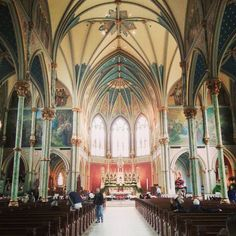 A view of the inside of St. John the Baptist Cathedral in Savannah
