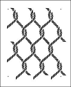 Rope Repeat stencil from The Stencil Library online catalogue. Buy stencils online. Stencil code F30.