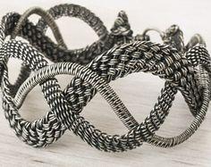 Silver wire wrapped bracelet. Arlene
