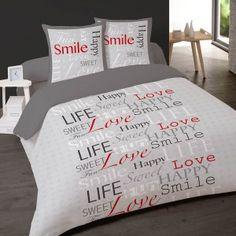 Housse de couette Smile 200x200 cm en flanelle Happy Smile, Sweet Life, Love Life, Comforters, Bed Pillows, Pillow Cases, Home, Bedding, Linens