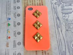 diy phone case, ombred, studded