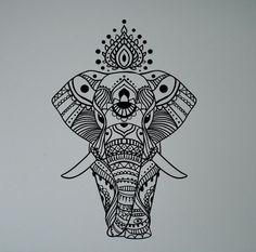 Indian Elephant Wall Sticker