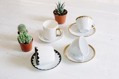 A Pair & A Spare | DIY Hand Painted Tea Cups
