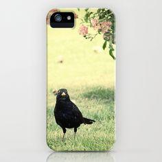 Le Merle et le Rosier iPhone Case by Marc Loret - $35.00