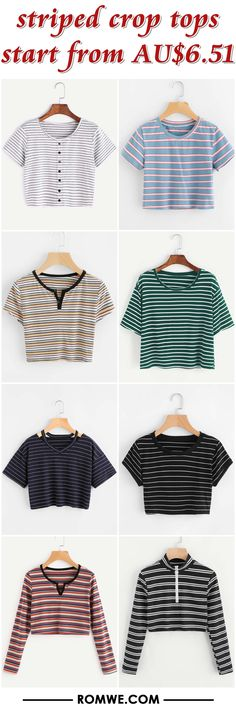striped crop tops from AU$6.51 - romwe.com