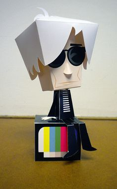 Andy Warhol by Custom Paper Toys