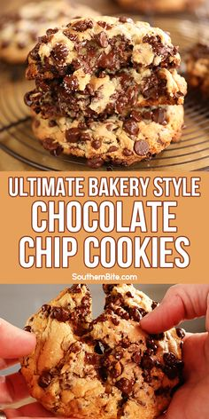 Ultimate Bakery Style Chocolate Chip Cookies