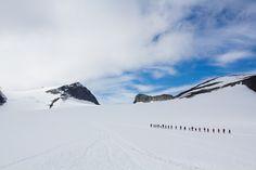 Hiking up to Galdhøpiggen, the highest mountain in Norway. Photo: Veronika Stuksrud - http://www.activeandadventurous.com/