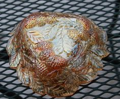 Vintage Carnival Indiana Glass Marigold Candy Dish Bowl Berry 1970