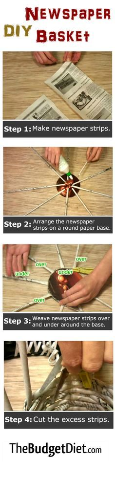 If you have a old newspapers at home that you don't know what to do with, with creativity and time, you can weave DIY baskets that could be good decorations or a place for school supplies.