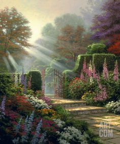 Garden of Grace Collectable Print by Thomas Kinkade at eu.art.com