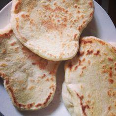 Homemade flatbreads, pittas