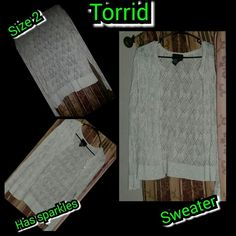 Selling this Whitesweater in my Poshmark closet! My username is: kfrye71. #shopmycloset #poshmark #fashion #shopping #style #forsale #torrid #Sweaters