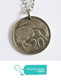 Kiwi Bird Coin Necklace Pendant New Zealand 1965 One Florin from Hendywood…