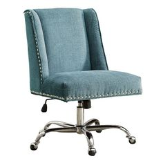 Linon Draper Office Desk Chair  sc 1 st  Pinterest : chairs with desks - Cheerinfomania.Com