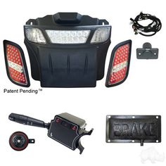 EZGO RXV Golf Cart LED Light Bar and Tail Light Kit with Deluxe Turn Signal & Brake Light - WHEELZ Custom Carts & Accessories