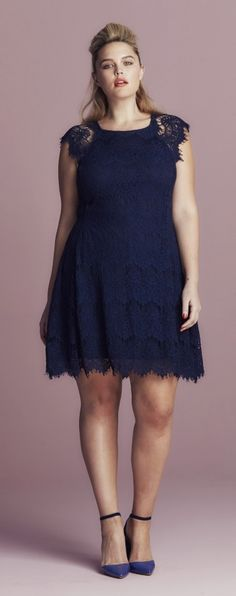 Plus Size Lace Dress - Plus Size Party Dress