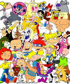 what happened to all these GOOD cartoons!? Rugrats, Hey! Arnold, Doug, Courage the Cowardly Dog, Dexter's Laboratory, Powerpuff Girls, Cow & Chicken.. just to name a few!! 1990s, you were so good to me!