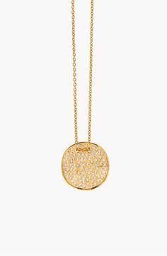 Gorjana 'Aurora' Long Pavé Pendant Necklace on shopstyle.com