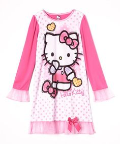 Look what I found on #zulily! Pink Hello Kitty Nightgown - Girls by Hello Kitty #zulilyfinds