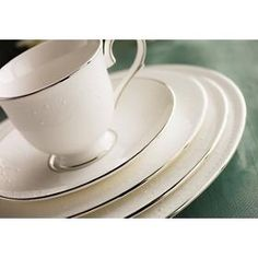 I just love the delicate look of this fine china.  The slightly raised pattern of Opal Innocence by Lenox is truly elegant.  dinnerware4less.com