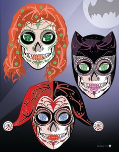 Gotham Lady Rogues Catwoman Poison Ivy & Harley Quinn by NutCracks