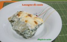 LASAGNE DI COSTE http://blog.giallozafferano.it/allegriaincucina/lasagne-di-coste/#