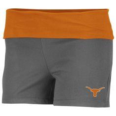Texas Longhorns Ladies Charcoal Essential Fitness Short