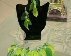 Necklace and ear-rings butterflies