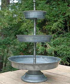 Loving this Galvanized Three-Tier Serving Tray on #zulily! #zulilyfinds
