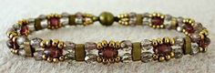 Linda's Crafty Inspirations: Bracelet of the Day: Trestle Bands - Olive & Amethyst