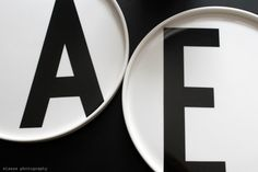 Design Letters: Plates with Arne Jacobsen typography