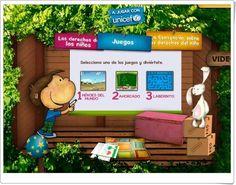 Juegos  de Unicef para celebrar el 20 de noviembre el Día Internacional de los Derechos de la Infancia.