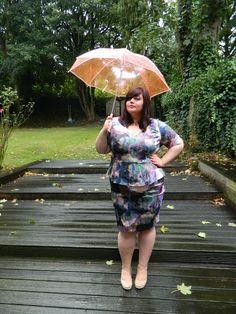 Cass Parsnip ( the plump parsnip) in autumn winter 13 Anna Scholz for Simply Be digital print peplum dress