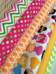 Princess quilt or craft fabric by Ann Kelle- fat quarter bundle, 6 total on Etsy, $18.00