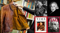 Einstein'ın 1931 model Levi's deri ceketi açık arttırmaya çıkarılıyor, fiyatın 55 ila 80 bin dolar arası olması bekleniyor.