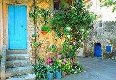 Summer in Provence. Village Facade by Barbara van Zanten Cat Window, Plan My Trip, Web Gallery, World View, Provence France, South Of France, France Travel, Windows And Doors, Facade