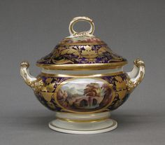 Tureen with Cover and Stand, British. Part of a Crown Derby, bone china, Service. Kings Table, Flora Danica, Georgian Furniture, Royal Crown Derby, Pots, China Patterns, Museum Collection, Fine Porcelain, Fine China