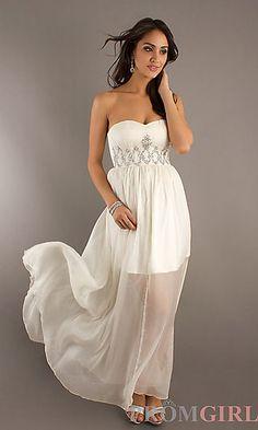 Coral Strapless Handkerchief Dress | Strapless dress