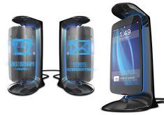 Futuristic Hovering-Phone