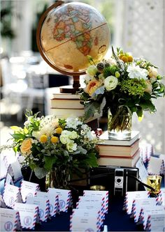 Travel themed wedding