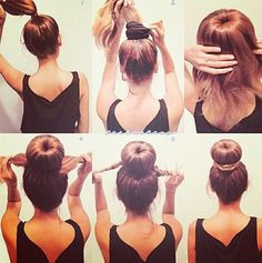 How to make a dancer bun