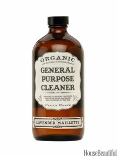 This eco-friendly all-purpose cleaner is safe for glass, ceramic, wood, even stone. And its soothing lavender scent calms you. $18 for 16 oz., from Clean Peace. beautyhabit.com.