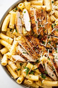 This easy Cajun chicken pasta is a weeknight dinner dream. Juicy cajun-spiced chicken on top of creamy pasta is a meal the whole family will love. #chicken #pasta Chicken Pasta Dishes, Cajun Chicken Pasta, Chicken Spices, Yummy Pasta Recipes, Easy Chicken Recipes, Easy Healthy Recipes, Pizza Recipes, Delicious Recipes, Dinner Recipes