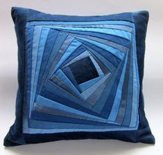 Pillow Case Desinger Pillow Case Patchwork Blue Pillow Cover Cushion Cover Hostess Gift Inch - Blue Patchwork Pillow Case Patchwork by DzintrasPatchworkArt The best image about diy clothes for - Patchwork Cushion, Quilted Pillow, Patchwork Quilting, Quilts, Sewing Pillows, Diy Pillows, Cushions, Throw Pillows, Blue Pillow Covers
