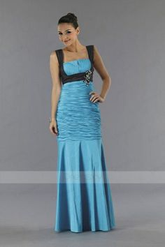 Wonderful Satin Sheath Evening Gown with Twinkling Crystals