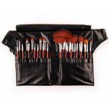 Profissional jogo de escova 24 pcs para uso salão de beleza maquiagem pincéis e ferramentas com saco de couro cinto alishoppbrasil